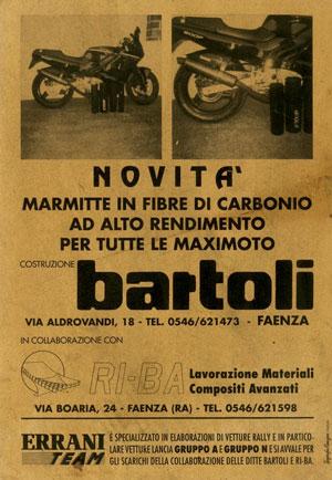 BARTOLI La prima marmitta in Carbonio