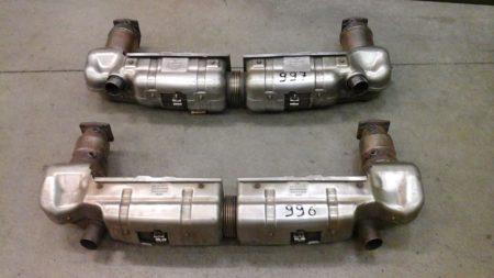 marmitTe porsche 996 E 997 originali e internalmente modificate per resa e sound - pronta consegna